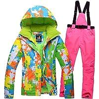 Jiuyizhe Chaqueta de esquí de la Chaqueta del esquí de la Muchacha del Invierno de Las Mujeres del Deporte al Aire Libre para la Nieve Que Camina de la Nieve (Color : 03, Size : XL)