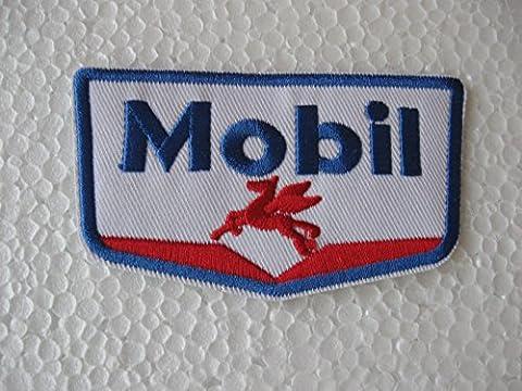 MOBIL Motor Oil Gasoline Station Logo Sponser Racing Biker Team Club Jacket T-shirt Patch Sew Iron on Embroidered Emblem Badge Sign by Best4Buy Patch
