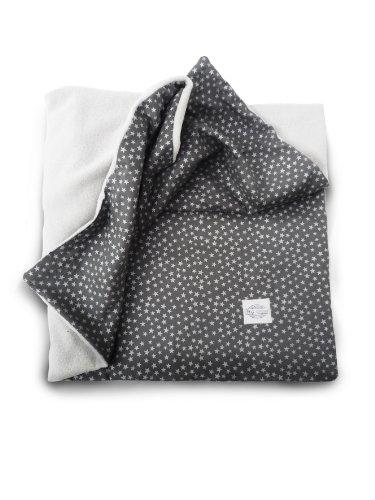 dea-concept Baby Kuscheldecke aus Sternenstoff und Frottee-Fleece grau