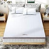 BedStory Matratzentopper 140 x 200cm, Gel Topper mit Abnehmbarer und Waschbarer Bezug, Atmungsaktive und Bequeme Matratzenauflage für Boxspringbett und Unbequemem Betten Schlafsofa