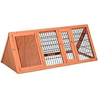 HOMCOM PawHut Jaula Conejo Conejera Hamster Madera Metal 118x50x45cm Ratones Rata Chinchilla