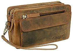 J JONES JENNIFER JONES Echt Leder Herren Luxus Handgelenktasche Herrenhandtasche Brieftasche Geldbörsentasche (6152)