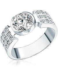 Rafaela Donata - Bague - Argent sterling 925 oxyde de zirconium - Bijoux pour femmes - En plusieurs tailles, bague oxyde de zirconium, bijoux en argent - 60800064
