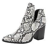 YWLINK Damen Keilabsatz Chelsea Stiefeletten Mode Einfach Elegant Retro High Heels Boots(Weiß,43 EU)