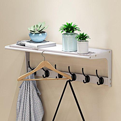 LXLA- Vêtements Rack Hanger mural suspendus étagère à vêtements Multifonctionnel simple Rack de stockage en bois laminé à froid E1 plaque 60,5 × 23,5 × 22 cm (Couleur : Style3)