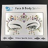 Face stick sul viso festival gioielli per fronte corpo gioielli strass tatuaggio adesivo colorato decorazioni