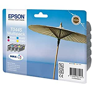 Epson Stylus Durabrite T0445 Multipack Ink cartridge (1 x Black, Yellow, Cyan / Blue, Magenta / Red)