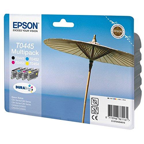 Epson T0445 Sonnenschirm, wisch- und wasserfeste Tinte (Multipack, 4-farbig) (CYMK)