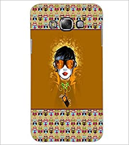 PrintDhaba Girl Face D-5720 Back Case Cover for SAMSUNG GALAXY A7 (Multi-Coloured)