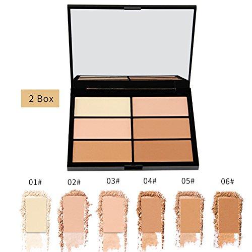 allbesta Bronzer et High Lighter Poudre Palette anti-cernes Contour Powder contou Ring Maquillage Highlight and Bronzing