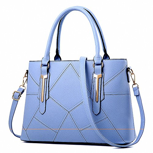 AILEESE, Borsa a mano donna viola Purple medium Sky blue