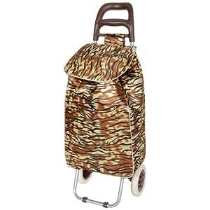 trolley einkaufstasche mit rollen leicht tigermuster sport freizeit. Black Bedroom Furniture Sets. Home Design Ideas