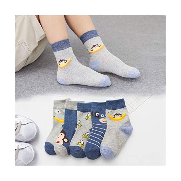 storeofbaby Niños pequeños Niños Niños Calcetines 10 pares Diversión Novedad Moda Calcetines de algodón con cuello… 3