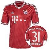 Trikot Adidas FC Bayern 2013-2014 Home - Schweinsteiger [Größe S]