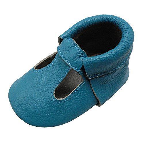 Mejale Baby Sommerschuhe Soft Soled Leder Sandalen Infant Walker Sandals Blau(6-12 Monate/5.12 Zoll) (58-zoll-dusche)