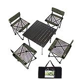 Outdoor Falten wild selbstfahrendes tragbares Picknick und Stuhl-Set von 5 Multifunktion