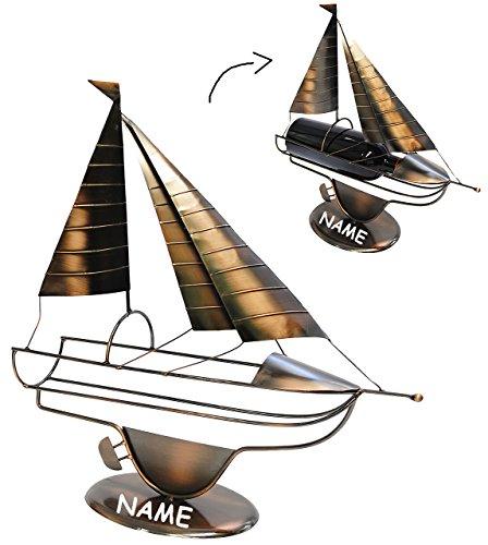 Unbekannt XL Flaschenhalter / Flaschenständer -  Segelboot / Segler - Schiff  - aus M..