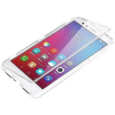 Vandot Funda para Huawei Mate 8 Suave Silicona Gel TPU Con Tapa Flip Case Cover Delgado Slim Transparente claro Flex Carcasa Protectora del Caso de la Cubierta Cáscara -