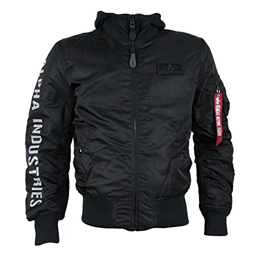 ALPHA INDUSTRIES Fliegerjacke MA-1 D-Tec SE black reflective
