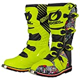 O'Neal Rider Boot Crank MX Cross Stiefel Neon Gelb Pin It Motorrad Enduro Motocross Offroad, 0329-0, Größe 46