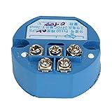 BQLZR Kunststoff PT100 Temperatur Messumformer 0-100C 4-20mA Ausgang Blau