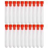 20pcs non-graduated plástico tubos de ensayo con color al azar tapón de rosca (12x 75mm)