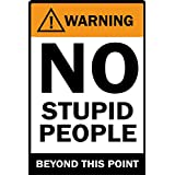 LOOK DECOR Warning No Stupid People Poster For Room Inspiring Design Collection Quotes And Messages Posters. Posters For Boys And Girls Wall Decals For Home And Office Poster For Study Room Gym Poster Motivational Messages Funny Funky Cool Captions And Sa