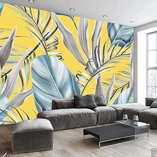 Worryd HD Drucken Poster Bild 3D Banana Leaves Pflanze Blatt Drucken Tapete Wandbild für Schlafzimmer Papel Pintado Rollo Papel Decorativo Pared 3d Wohnkultur Europäischen, G -