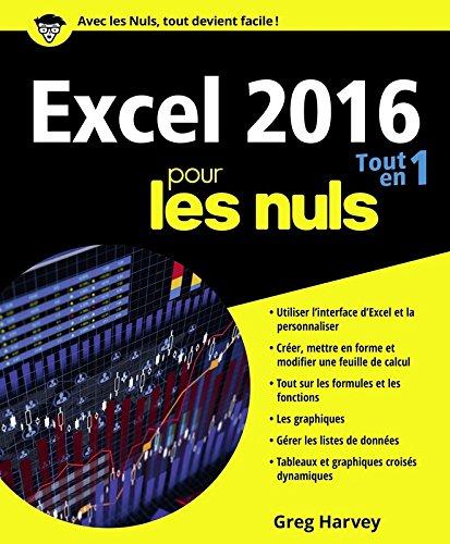 Excel 2016 Tout en un pour les Nuls par Greg HARVEY