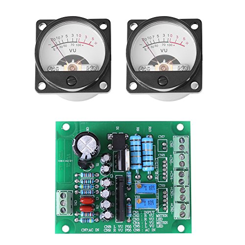 2Pcs VU Instrumententafel Meter mit Warmem Hintergrundlicht und Audiopegel-Ampere mit Fahrer (Ampere-meter)