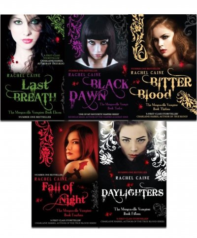Rachel Caine Morganville Vampires 5 Books Collection Pack Set- Book 11 to 15 (Last Breath: Book 11, Black Dawn: Book 12, Bitter Blood: Book 13, Fall of Night: Book 14, Daylighters: Book 15)