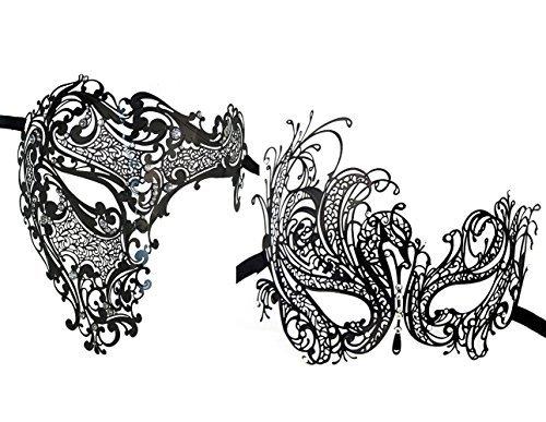 2 Stück Set Paare Venezianer Half Face Masken Kostüme Party ()
