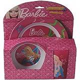 Barbie - Melamin Geschirrset 3-teilig