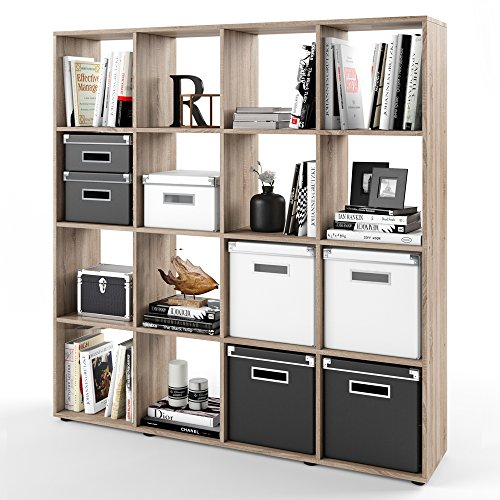 bcherregal eiche sonoma stunning wandregal wandboard hngeregal bcherregal cd dvd regal rack. Black Bedroom Furniture Sets. Home Design Ideas