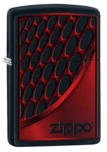 Zippo RED AND CHROME-Black Matte-Art-Nr.: 60003392 Sturmfeuerzeug, Silber, 5.8 x 3.8 x 1.8 cm (Black Chrome Zippo)