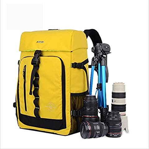 Multi-fonction Imperméable Nylon Anti-décalage SLR / DSLR Gadget Caméra Sac à dos Professionnel Équipement La photographie Voyage Backpack Rucksack , yellow