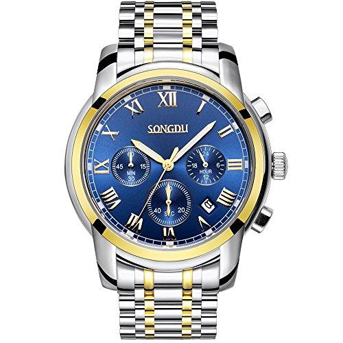 songdu-hommes-montre-plaque-or-quartz-unisexe-montre-bleu-dial-bracelet-en-acier-inoxydable-chronogr