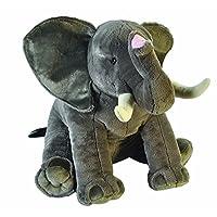 Wild Republic 19517 African Elephant Plush, Large Soft Toy, Little Biggies, 53 cm