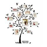 Wicemoon Schwarz Foto Baum Fotorahmen TV Hintergrund Wandaufkleber Kunst Wandtattoo Abnehmbare Tapeten Dekoration Kunst Aufkleber Muster Aufkleber an der Wand