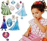 Unbekannt 15 Stück: Wandsticker -  Disney die Eiskönigin / Frozen  - selbstklebend + wiederverwendbar - Aufkleber für Kinderzimmer - Wandtattoo / Sticker Kinder - völ..