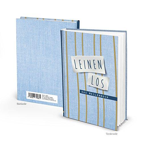 Seemeilenbuch LEINEN LOS DIN A5 100 Seiten blanko Buch - Eintragen der Seemeilen als Nachweis - Meilenbuch Seemeilenbuch für angehende Segler - als Geschenk zum Segelschein Logbuch der Meilen