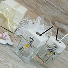 Idea Regalo - bomboniere utili profumatore/diffusore Albero della Vita e Ciondolo Confetti crispo (1 profumatore con Albero Argento con Kit)