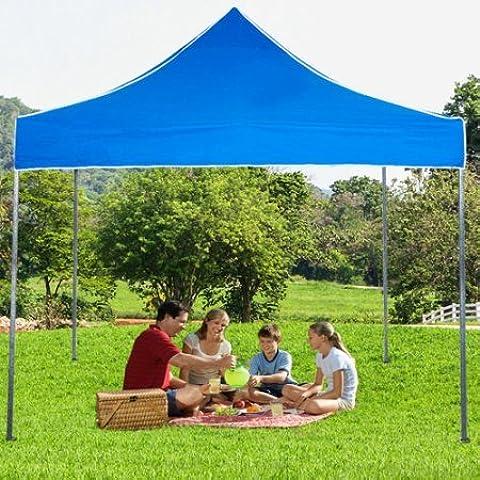 Stalwart 10' x 10' Straight Leg Canopy/Gazebo Shelter,Blue by Stalwart