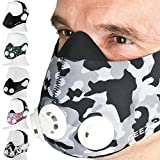 Geez Trainingsmaske Höhentraining Fitness Atemmaske Trainings Maske Training Mask (Black/White Camouflage)