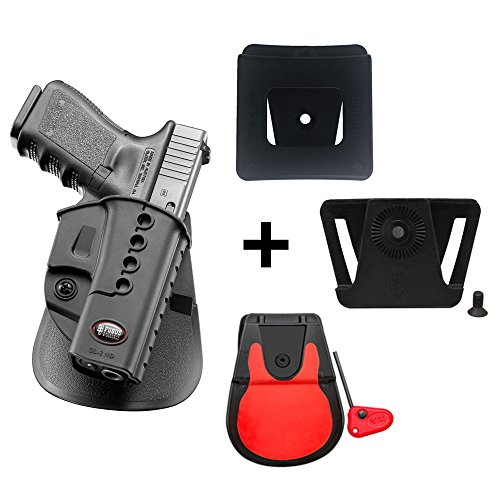 Fobus kit 360 rotating roto paddle retention holster + belt attachment + 6cm police wide duty belt adapter for Glock 17, 19, 22, 23, 31 ,32, 34, 35