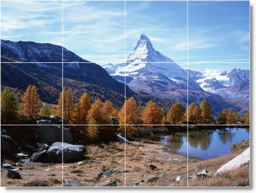 INVIERNO FOTO MURAL AZULEJO W048  24X 32CM CON (12) 8X 8AZULEJOS DE CERAMICA