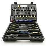 TKSTAR Benson Schraubendreher-Set, verschiedene Größen 33-teilig, Tool Set Cr-V Edelstahl - Schraubendreher, Steckschlüsselsatz, Reparaturwerkzeuge mit Transportkoffer NL05091