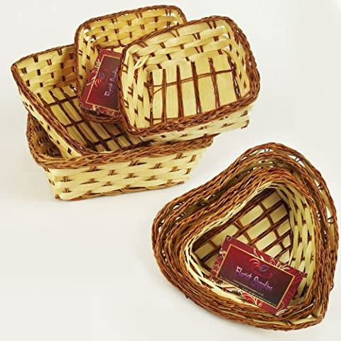 Set of Four Small Flat Tray Gift Hamper Baskets (Random)