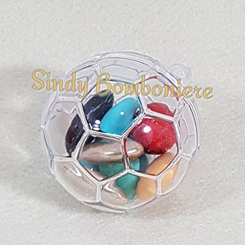 25 pezzi scatola per confetti scatoline portaconfetti plexiglass a forma di pallone per confetti bomboniera eventi