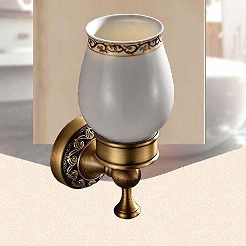 LINA@ Continentale intagliato portaspazzolino piedistallo vetro antico bagno